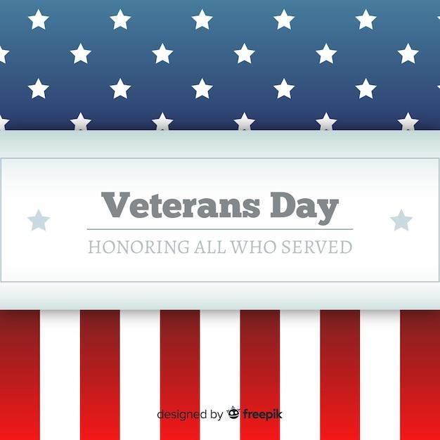 Vlaggenvelop veteran's day achtergrond Gratis Vector