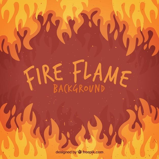 Vlakke achtergrond van de vlammen in verschillende kleuren Gratis Vector