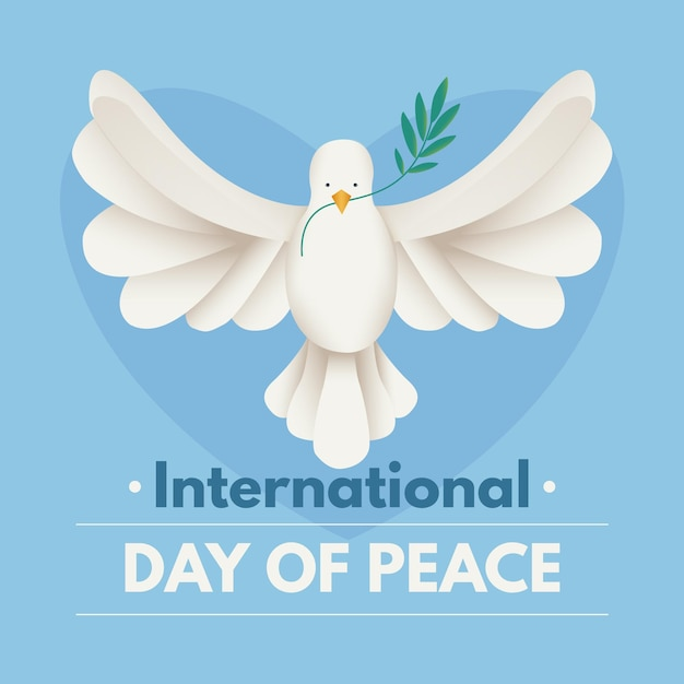 Vlakke internationale dag van vrede Gratis Vector