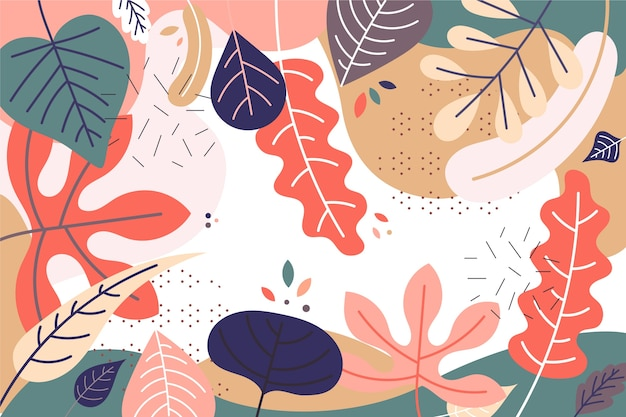 Vlakke stijl abstract floral achtergrond Gratis Vector