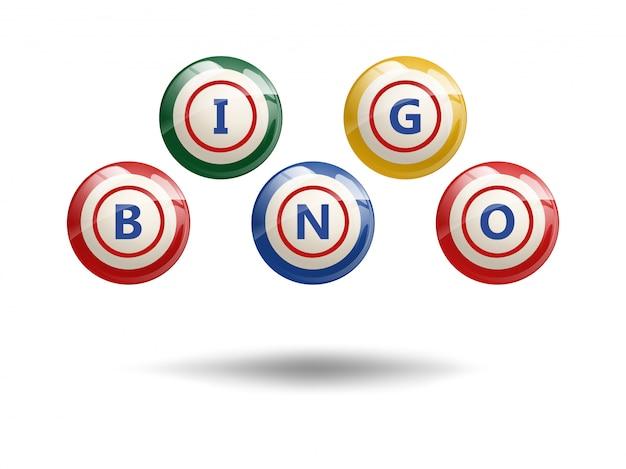 Vliegende bingo-ballen Premium Vector