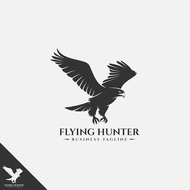 Vliegende eagle-logo Premium Vector