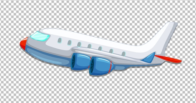 Vliegtuig cartoon stijl op transparant Gratis Vector