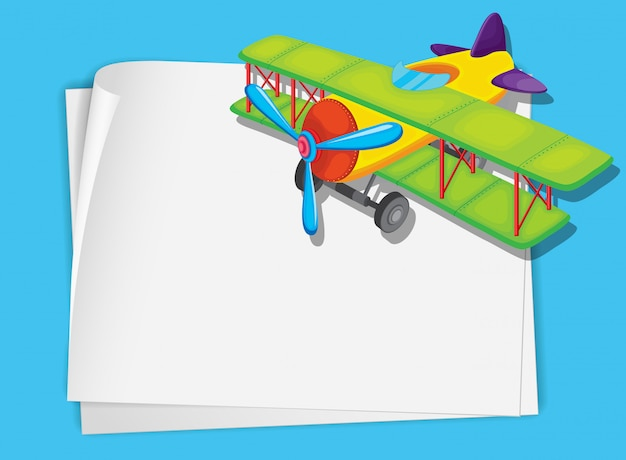 Vliegtuig papier Gratis Vector