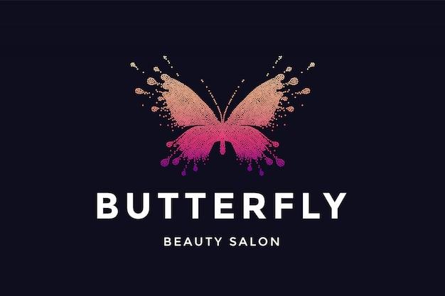 Vlinder. logo voor schoonheidssalon Premium Vector
