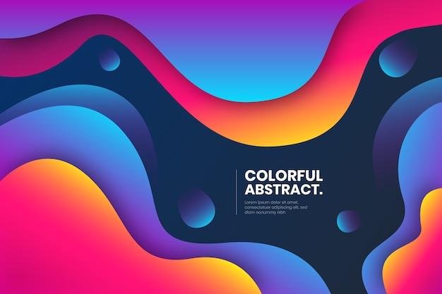 Vloeibaar compositie abstract ontwerp Gratis Vector
