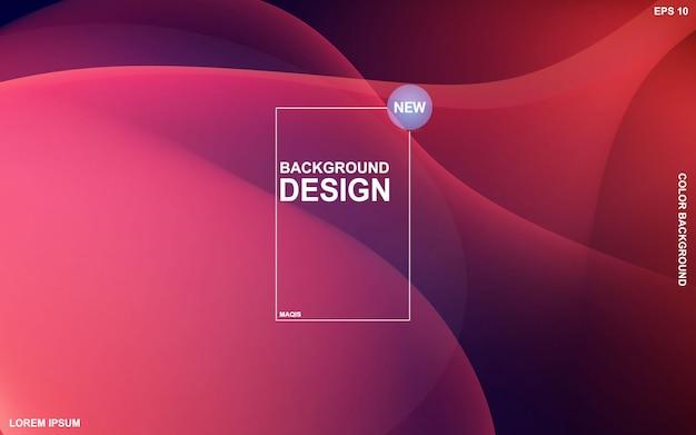 Vloeibaar kleurenontwerp als achtergrond. samenstelling van de vloeistofgradiëntvormen. Premium Vector