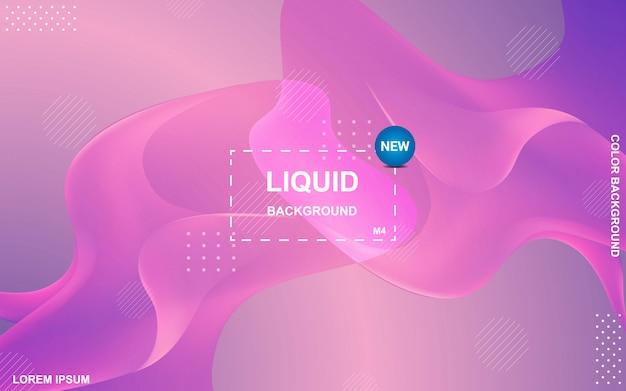 Vloeibaar kleurenontwerp als achtergrond Premium Vector