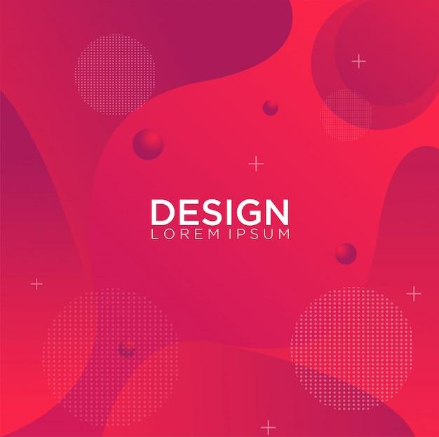 Vloeibare kleur achtergrondontwerp vloeistof gradiënt vormen samenstelling Premium Vector