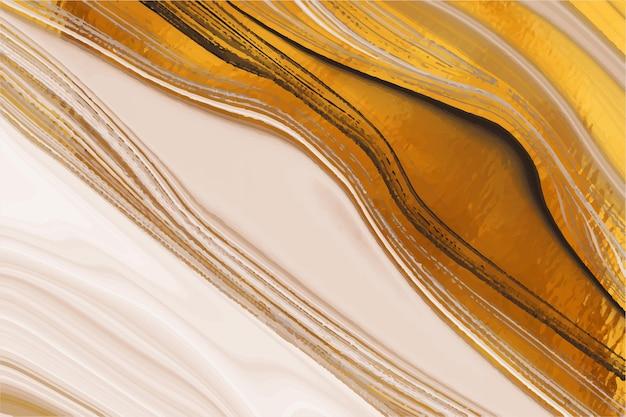 Vloeibare marmeren achtergrond met gouden glans textuur Gratis Vector
