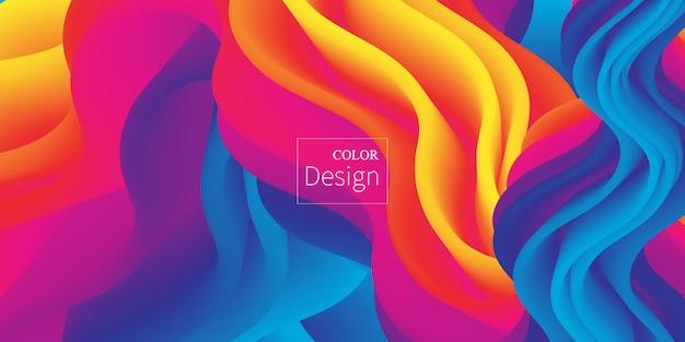 Vloeiende kleuren. vloeibare vorm. inkt splash. Premium Vector