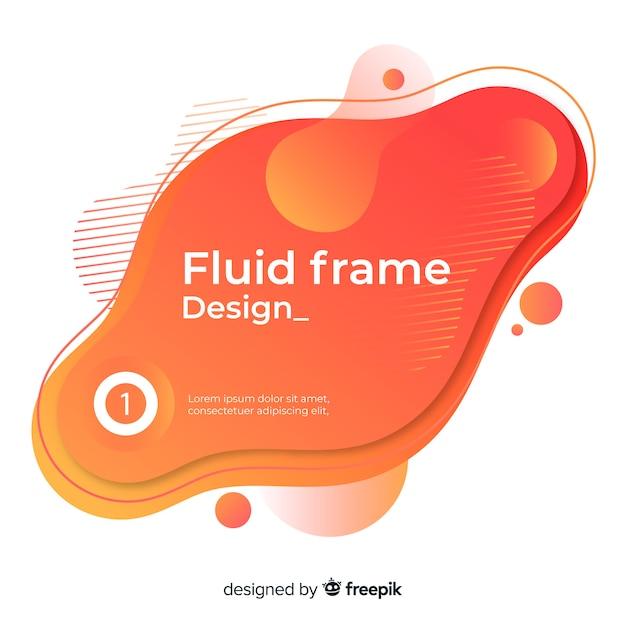 Vloeistof frame ontwerp Gratis Vector