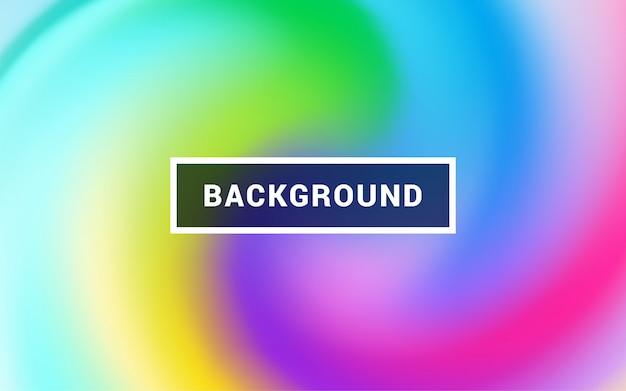 Vlotte kleurrijke vormen die trendy netwerkgradiënten samenstellen. Premium Vector