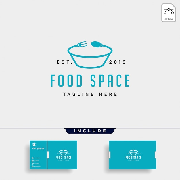 Voedsel logo pictogram element illustratiebestand Premium Vector