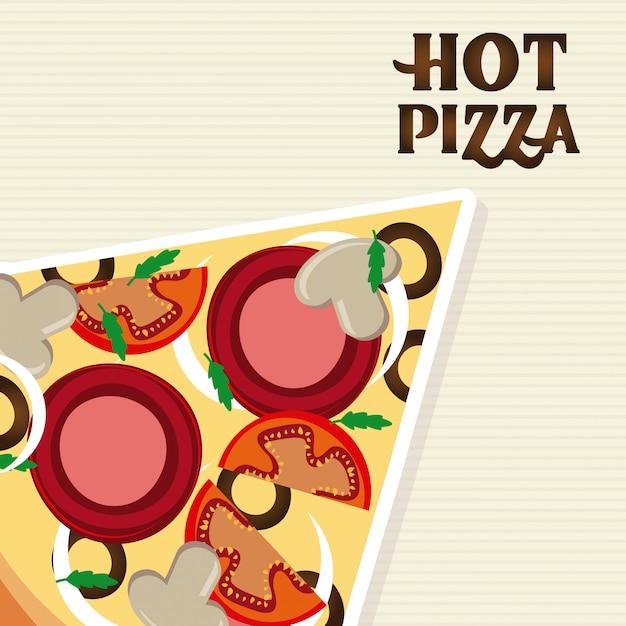 Voedsel over witte illustratie Gratis Vector