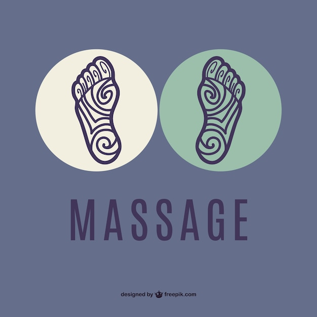 Voet massage vector Gratis Vector
