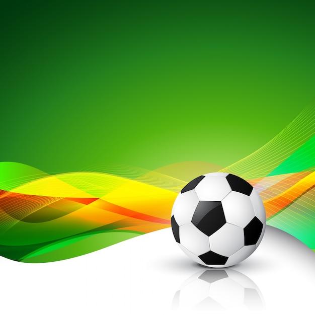 Voetbal abstracte achtergrond Gratis Vector