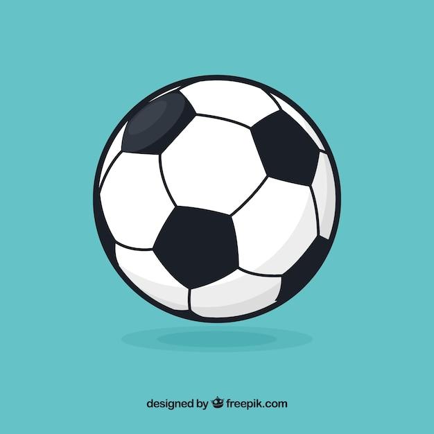 Voetbal bal achtergrond in vlakke stijl Gratis Vector