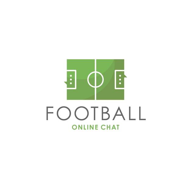 Voetbal chat logo sjabloon Premium Vector