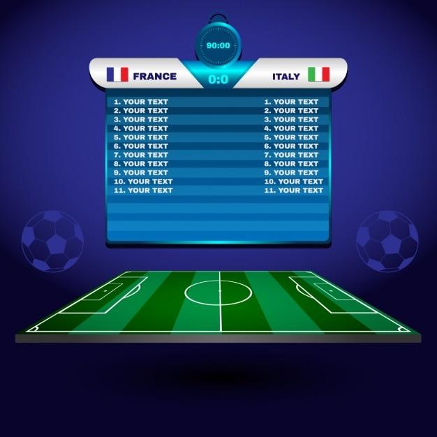 Voetbal elementen ontwerp Gratis Vector