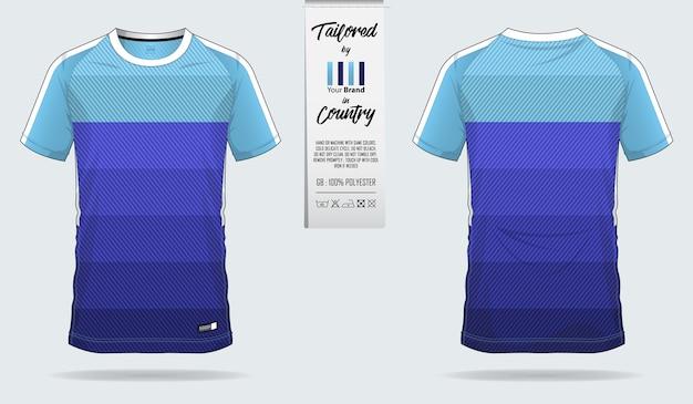 Voetbal jersey of voetbal kit sjabloonontwerp Premium Vector
