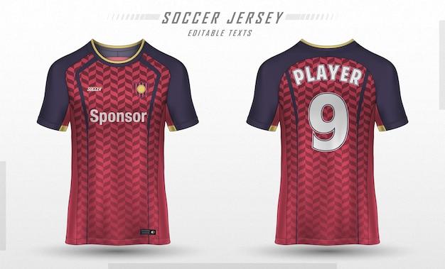 Voetbal jersey sjabloon sport t-shirt ontwerp Gratis Vector