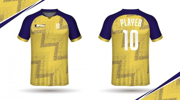 Voetbal jersey sjabloon sport t-shirt Premium Vector