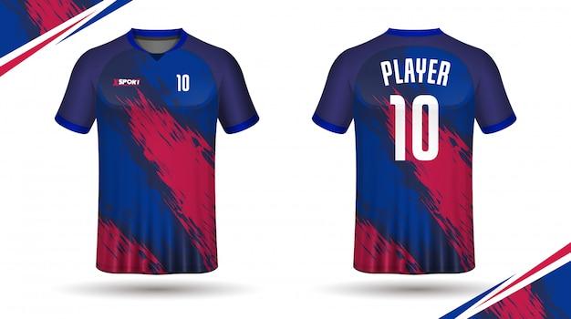 Voetbal jersey sjabloon-sport t-shirt Premium Vector