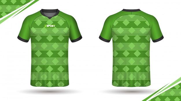 Voetbal jersey sjabloon sport tshirt Premium Vector