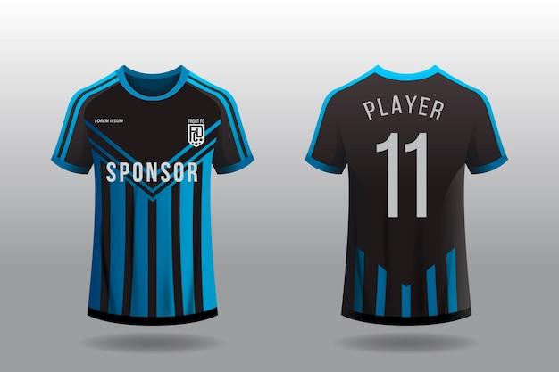 Voetbal jersey t-shirt concept Gratis Vector