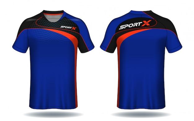 Voetbal jersey template.sport t-shirt design. Premium Vector
