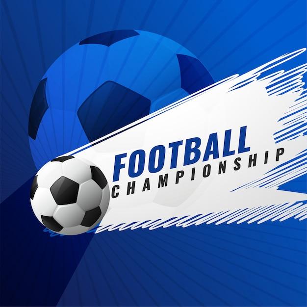 Voetbal kampioenschap toernooi spel achtergrond Gratis Vector