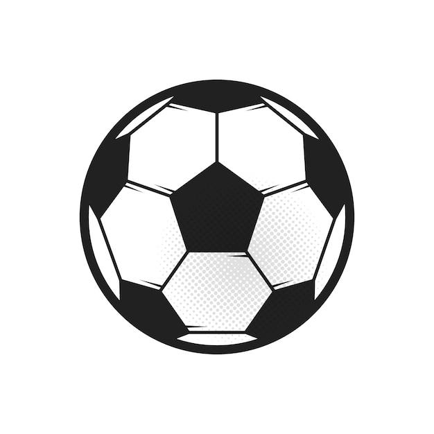 Voetbal op wit Premium Vector