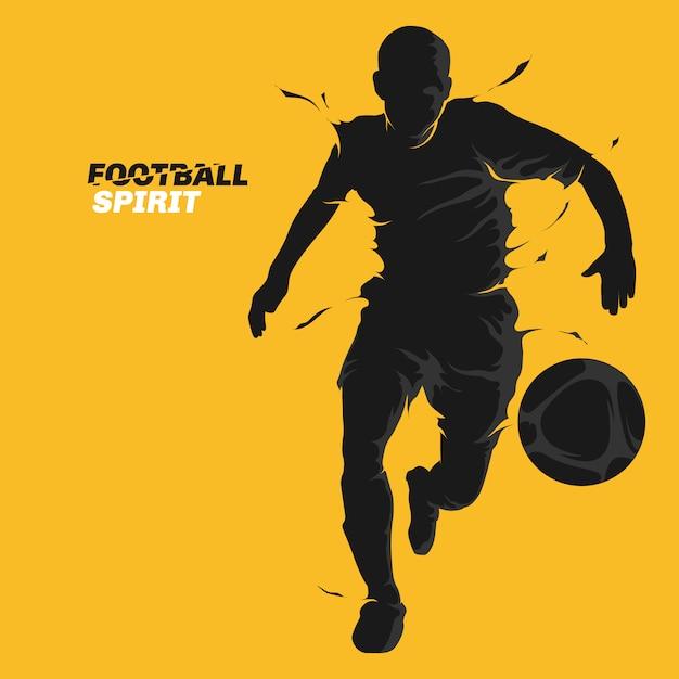 Voetbal splash geest Premium Vector