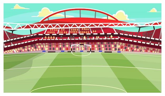 Voetbal stadion illustratie Gratis Vector