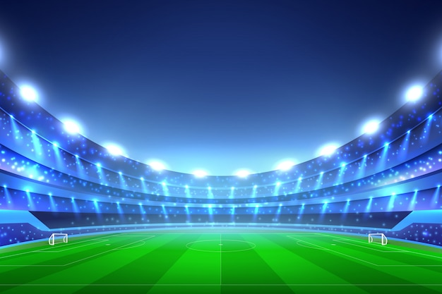 Voetbal stadion Gratis Vector