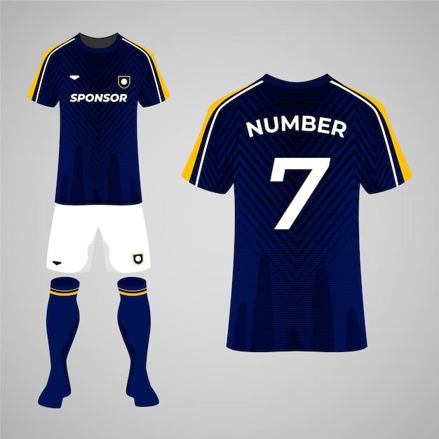 Voetbal uniform concept Gratis Vector