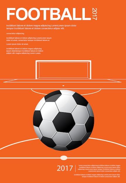 Voetbal voetbal poster illustratie Premium Vector