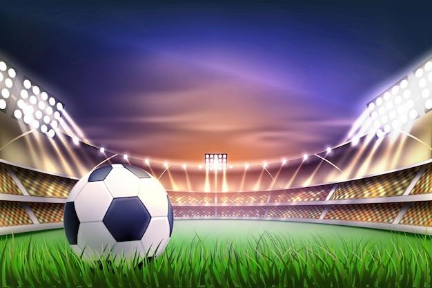Voetbal voetbalstadion tribune achtergrondgeluid illustratie Premium Vector