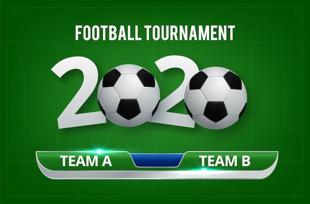 Voetbal wereldkampioenschap cup achtergrond voetbal Premium Vector