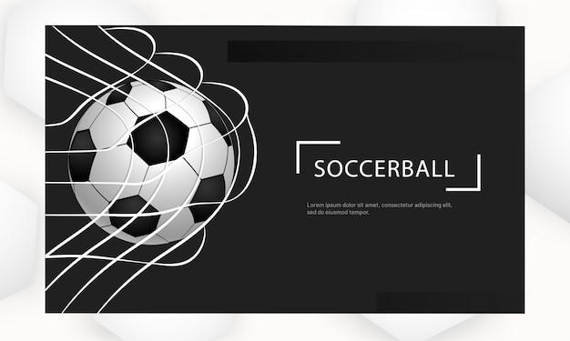 Voetbalclub website. Premium Vector