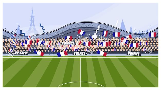 Voetbalfans illustratie Gratis Vector