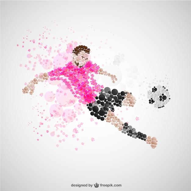 Voetballer kick vector Gratis Vector