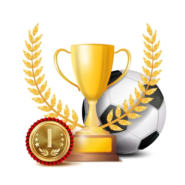 Voetbalprestatie award Premium Vector
