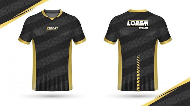 Voetbalshirt sjabloon Premium Vector