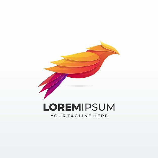 Vogel abstract concept logo Premium Vector