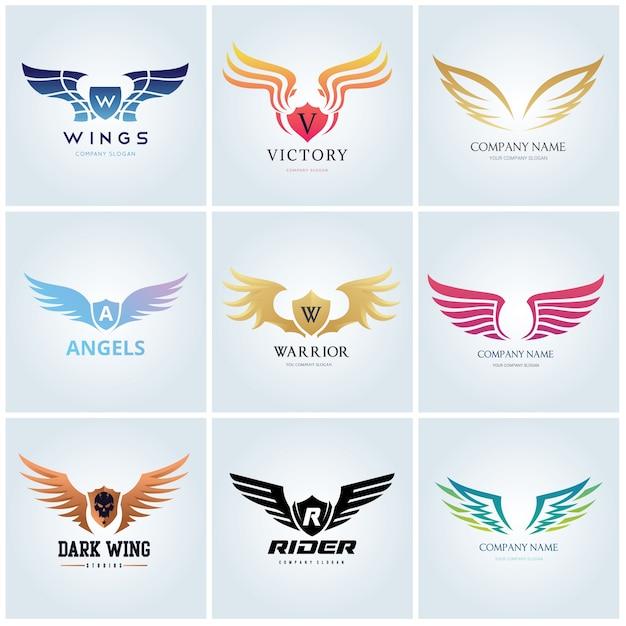 Vogel Eagle En Wing Logo Sjabloon Vector Premium Download