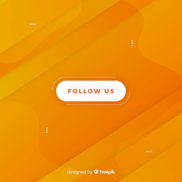 Volg ons knopontwerp Gratis Vector