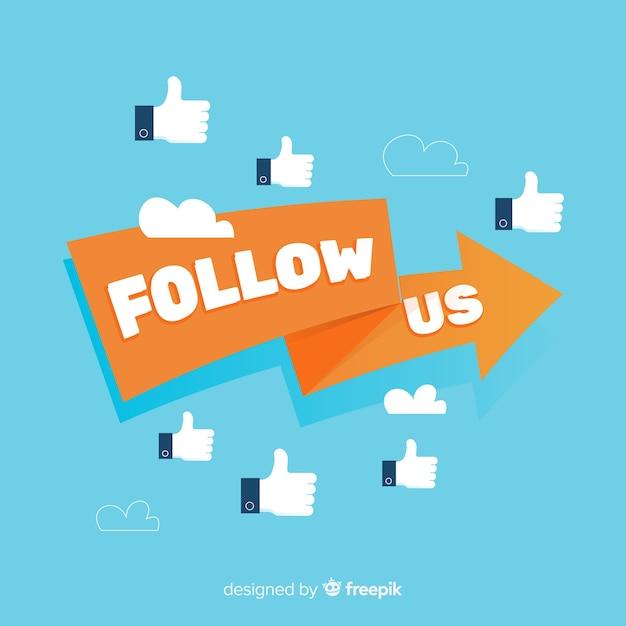 Volg ons Gratis Vector