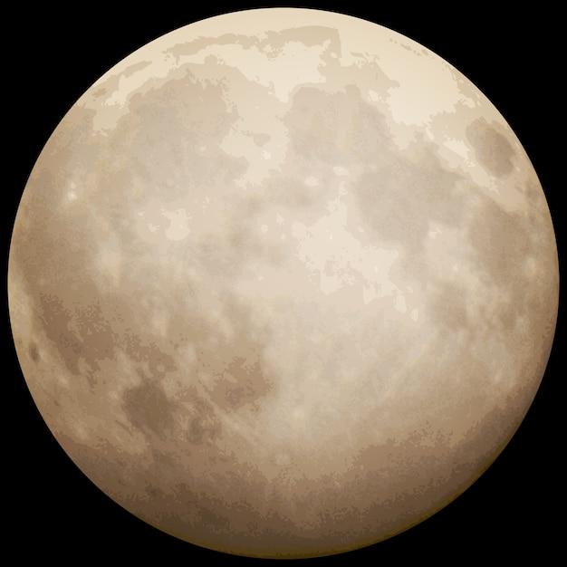 Volle maan, genomen op 13 juli 2014. Premium Vector